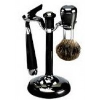 Shave Set - Comoy - with Mac3 - Chrome & Black