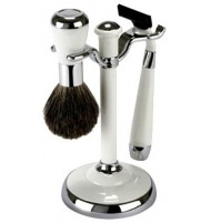 Shave Set - Comoy - with Mac 3 - Chrome & White